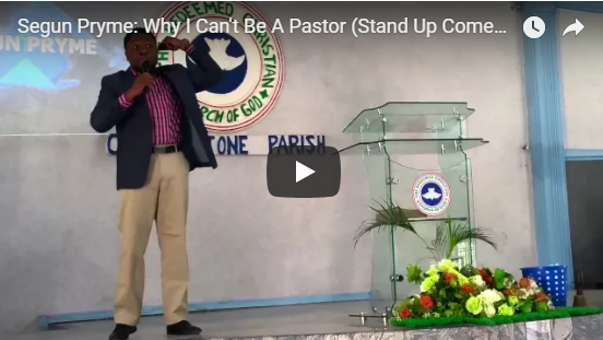 Segun Pryme: Why I Can't Be A Pastor